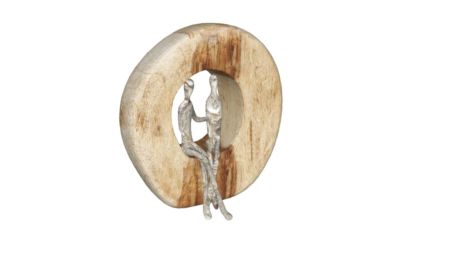 61493 Deco Object Couple In Log