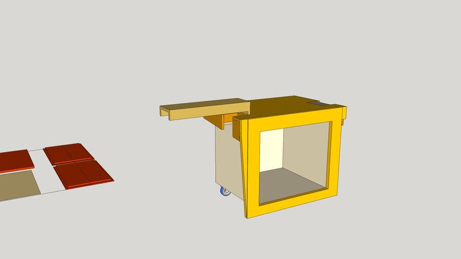 "Wyman's Workshop Miter Station for 12"" Bosch saw"