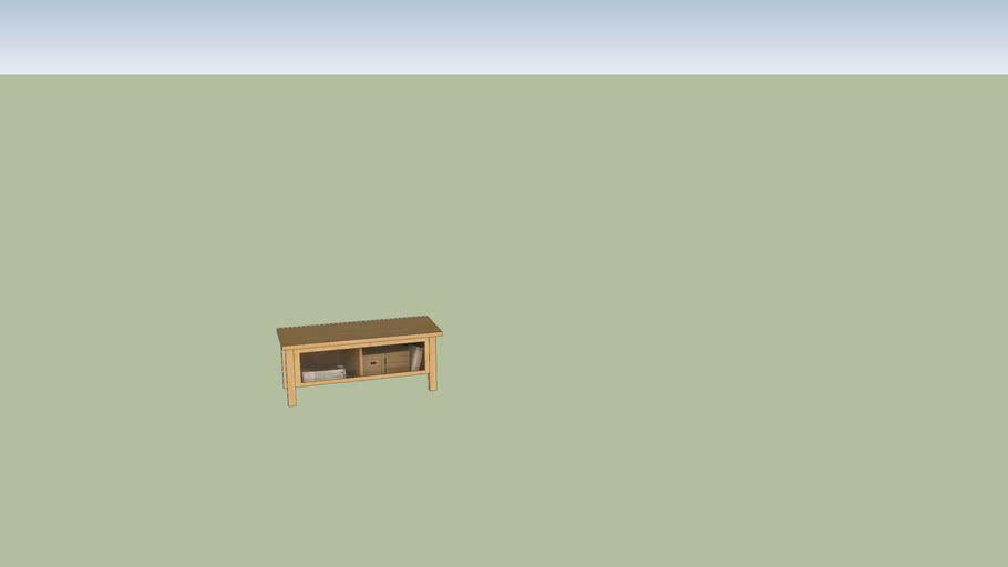 むじ〇し木製AVラック タモ材108.5X46X13