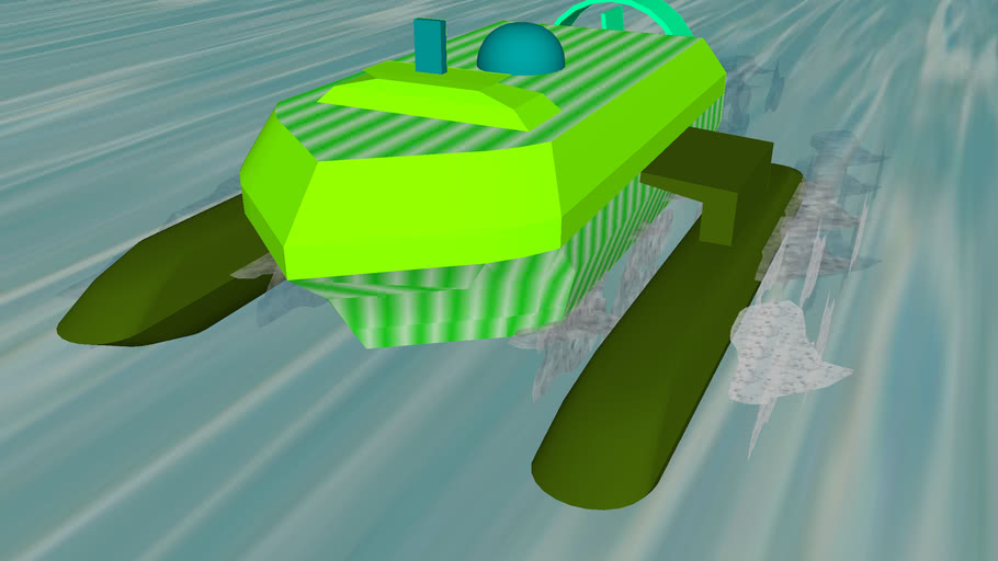 Simple Green hovercraft