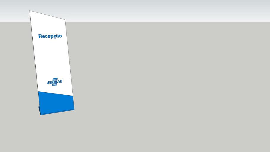 Placa de mesa Recepção - sinalização interna Sebrae
