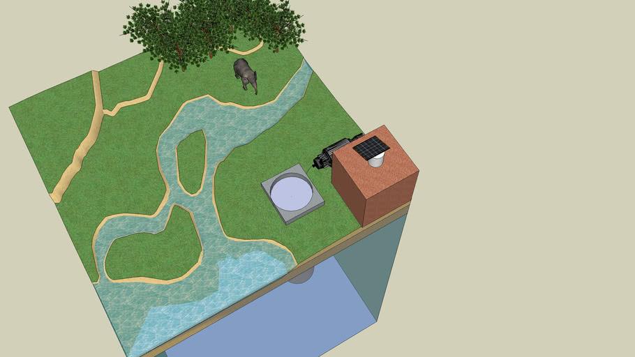 Solar Water Pump Sketch