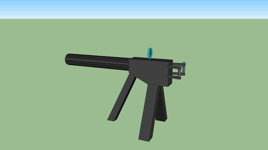 prototype 12-barrel minigun