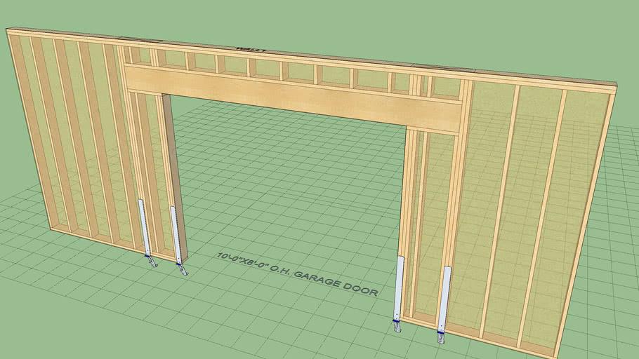 Garage Portal Frame with Holdowns