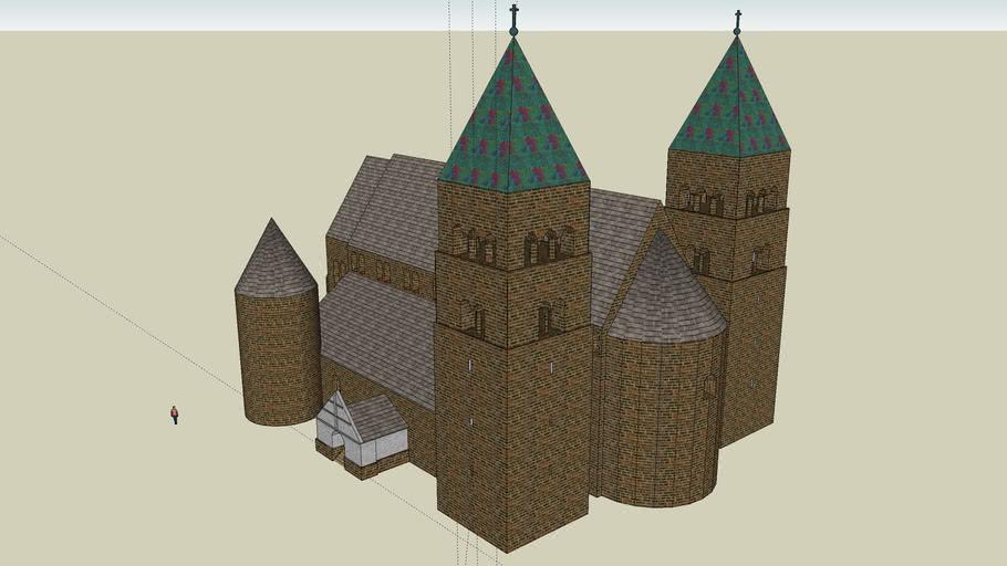 Romanesque church in Tum, Poland