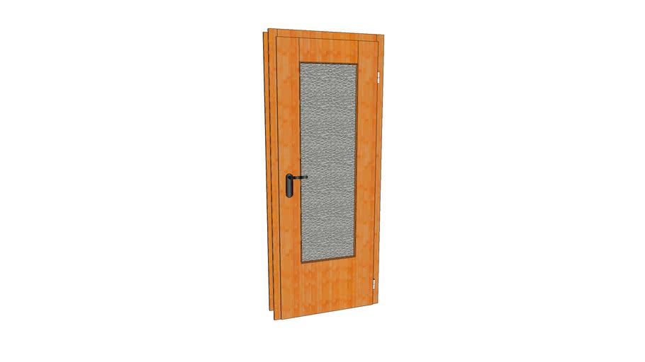 Tür mit Glaseinsatz und Zarge
