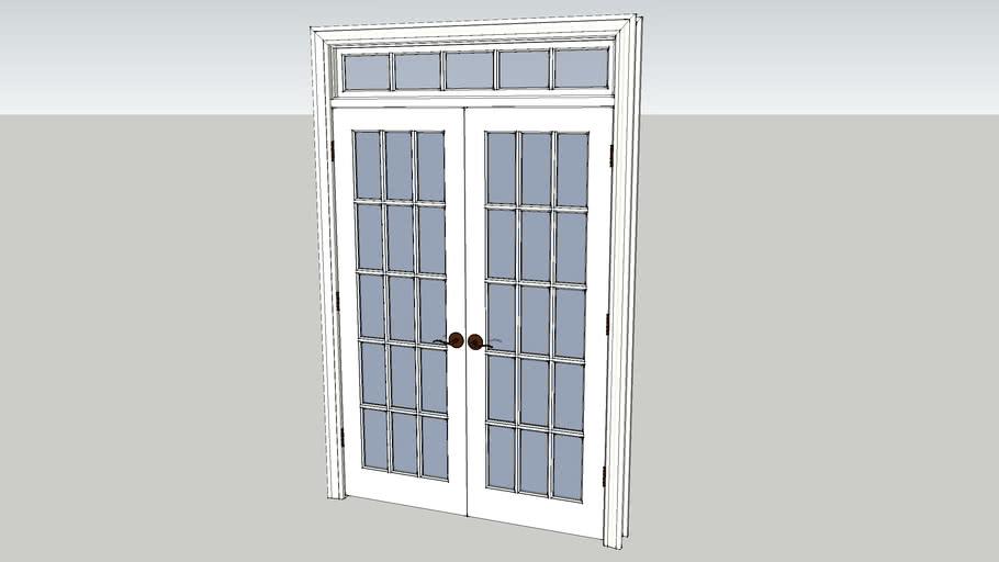 56x80 French Doors w_Transom