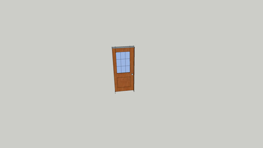 wood and glass door (modified)