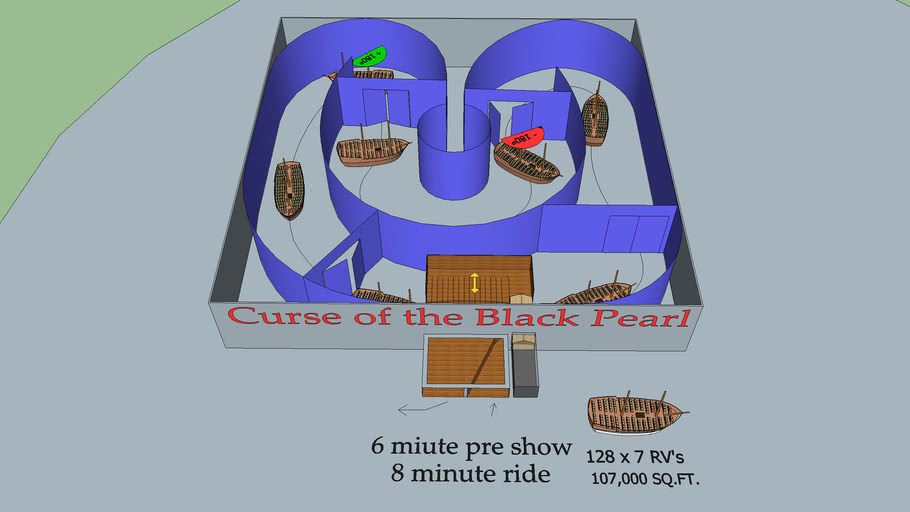 Curse of the Black Pearl theme park ride