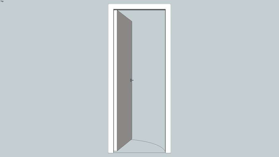Porte pleine de 73 cm