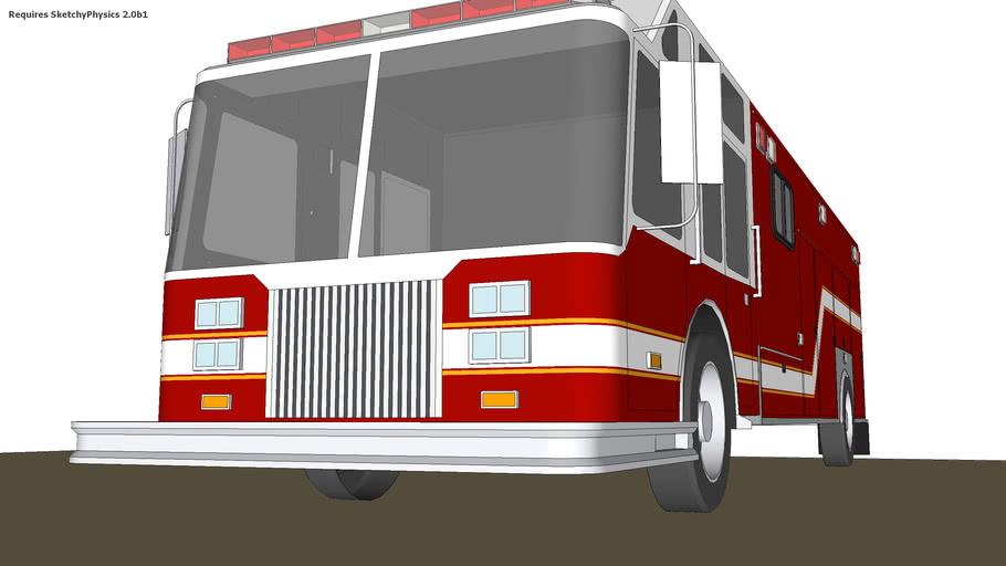 Fire Dept. HAZMAT Truck (Requires SketchyPhysics2) Read Description