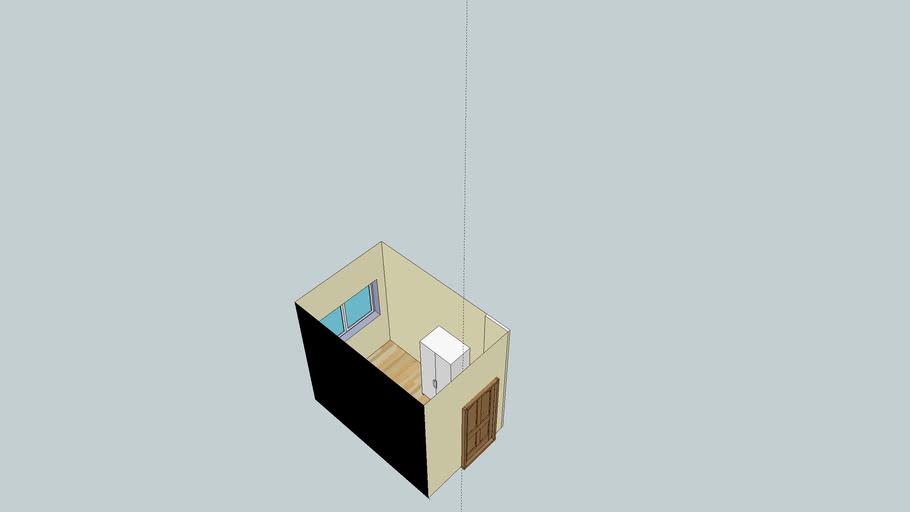Mein Zimmer ohne Schreibtisch und Schrankwand