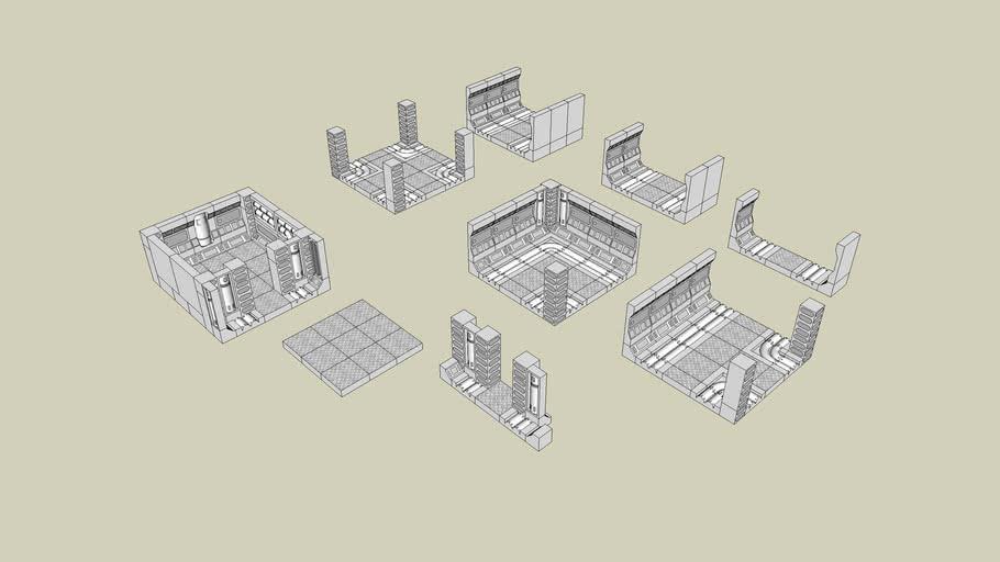 Hirst Arts Modular Space Hulk Tiles