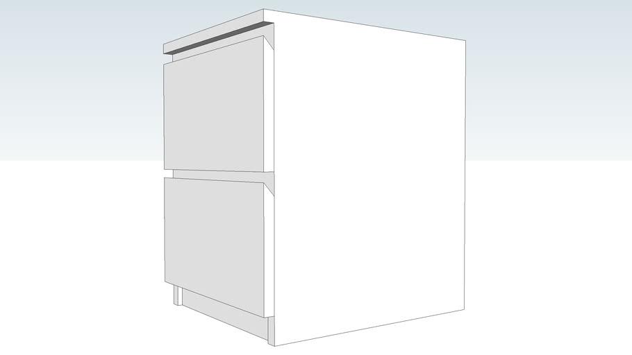 Malm Cassettiera 2 Cassetti.Ikea Malm Cassettiera Nera Con 2 Cassetti 3d Warehouse