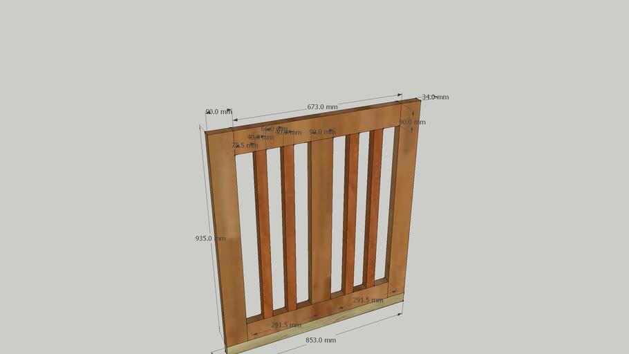 Barrière de jardin en bois