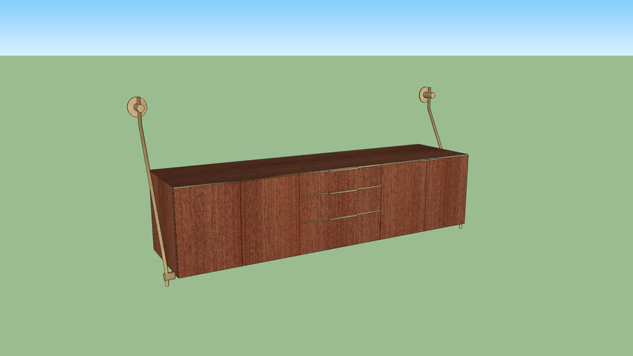 Floating Credenza by Amuneal
