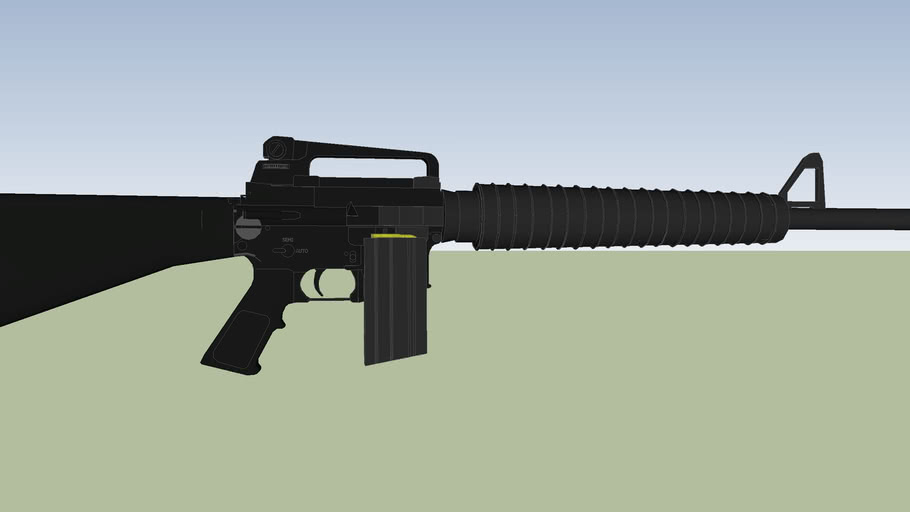 arma larga m16 metralleta uso eclusivo del ejercito