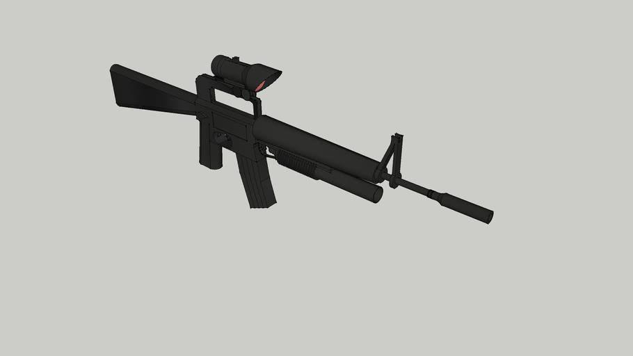 m16+lance grenade+lunette+ silencieu vb