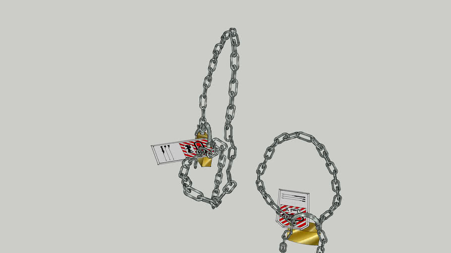 Lock and Chain with English/ Arabic Tag
