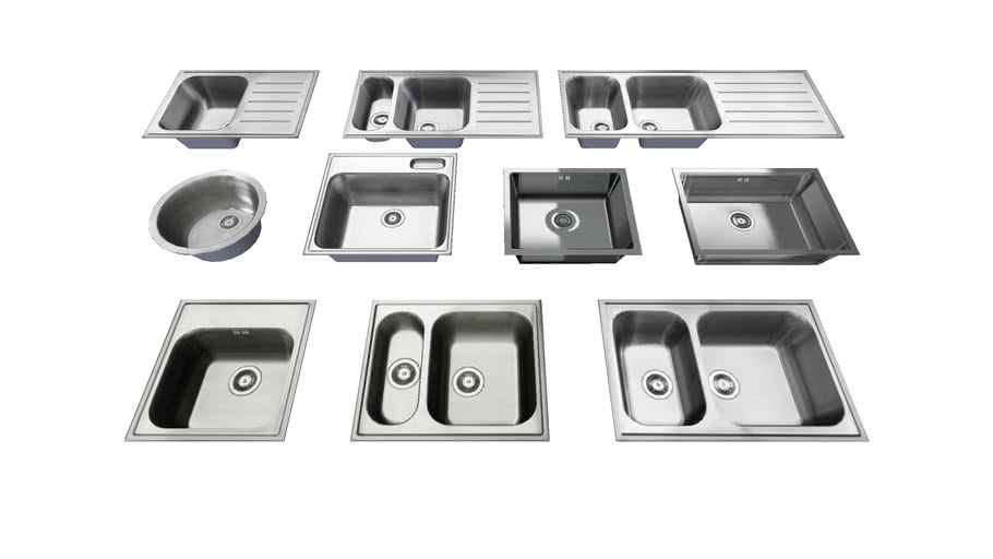 IKEA sinks collection (low poly)