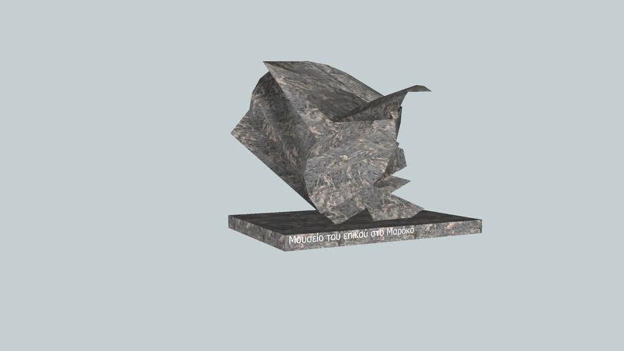 escultura de arte do museu em Marocos