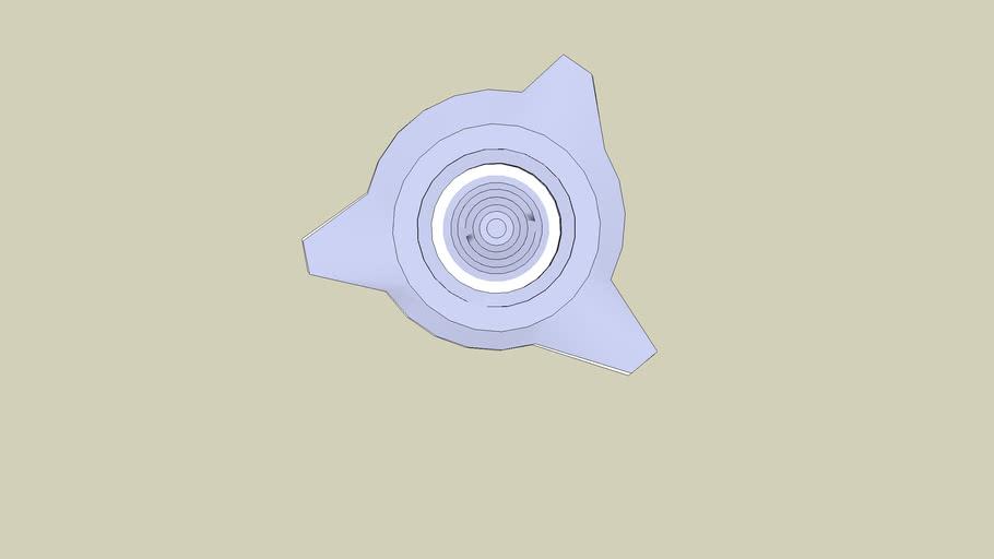 3D UFO or Wheel Hub Cap