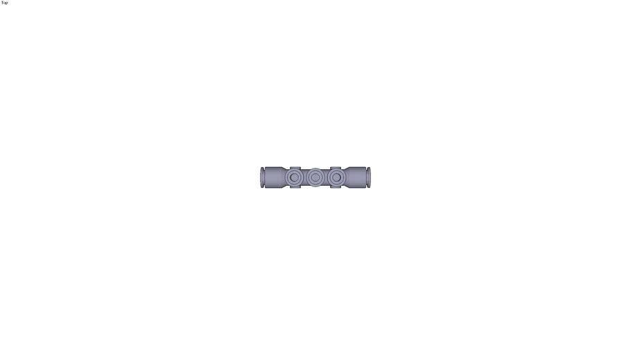 3304 - MULTIPLE TEE WITH FIXING HOLES DIAM D1 10 MM DIAM D2 6 MM