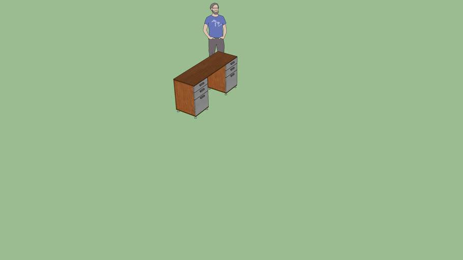 escritorio doble cajon