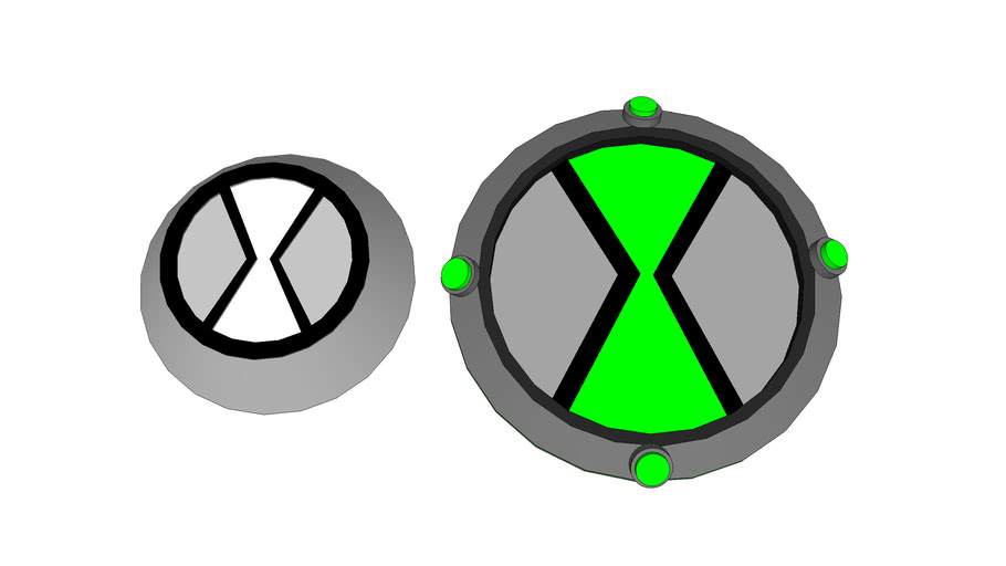 omnitrix button and face plate from ben 10