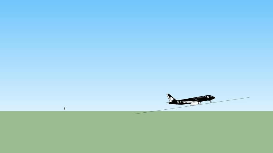 aviao decolando