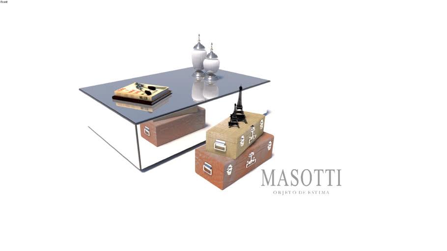 Mesa de centro retangular Coleção Masotti Ref 278.0 F15(3)