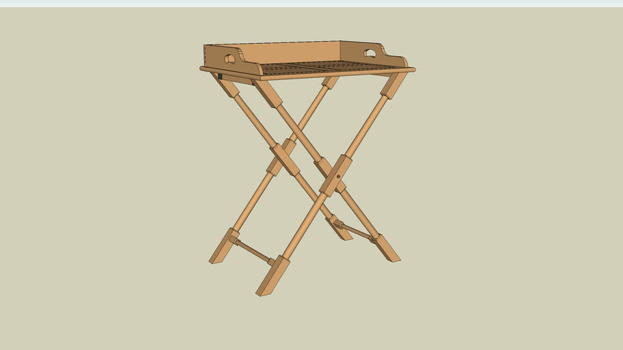 Folding Campaign Table from Popular Woodworking Magazine August 2008