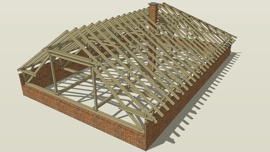 Wooden Roof Construction 3d Warehouse