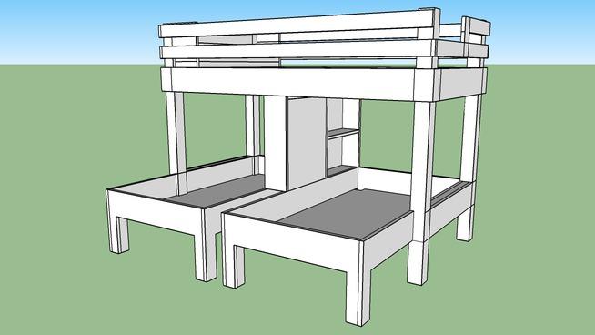 Triple Bunk Bed 3d Warehouse