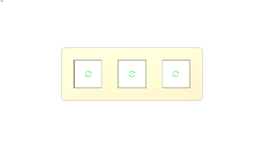 Unica Studio Frame 3 gang, beige