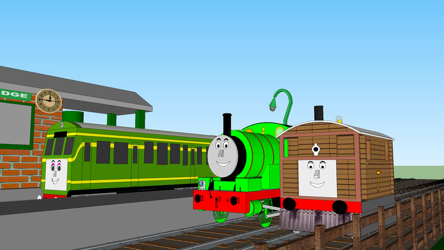 Toby, Percy and Daisy at Elsbridge Station