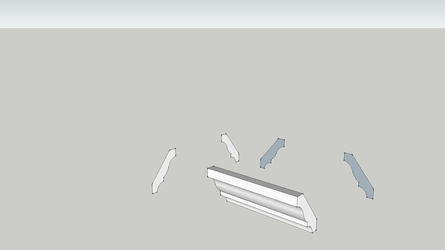 3 1/4 inch crown molding profile