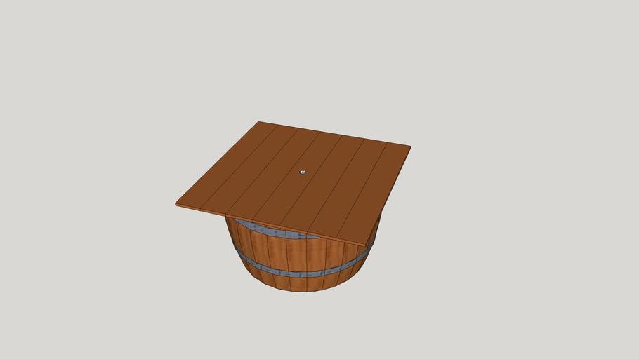 wine barrel umbrella holder