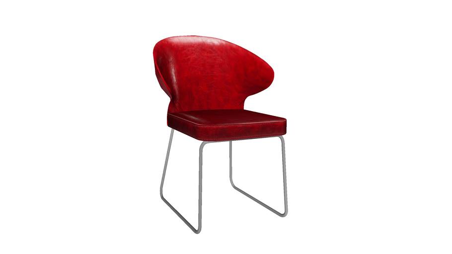 KARE 79980 Chair Atomic Red (Stuhl Atomic Red)