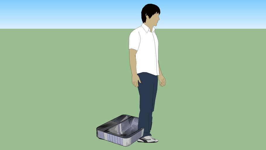 Senso Square Washbasin 650x480 w/Semi Pedestal