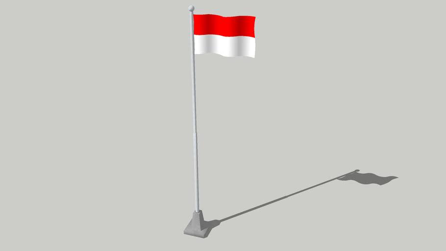 Bendera Indonesia Indonesian Flag 3d Warehouse