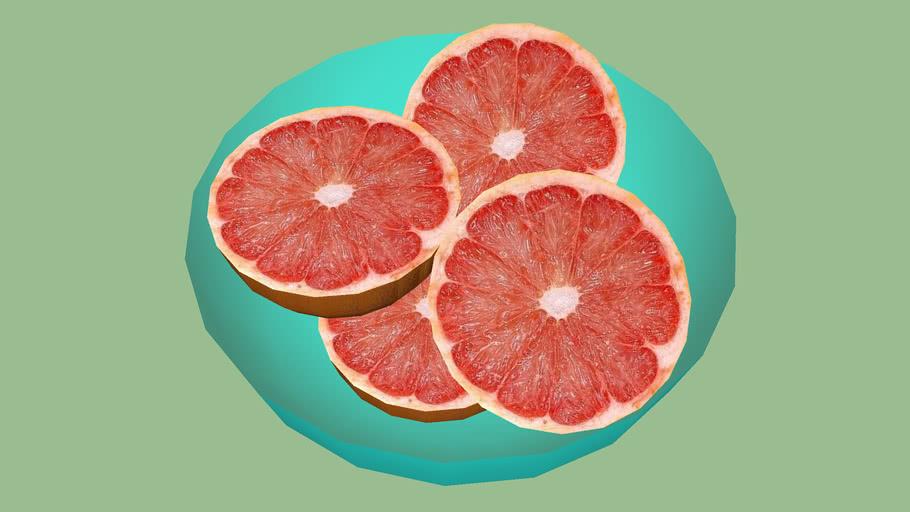 Bowl of grapefruit