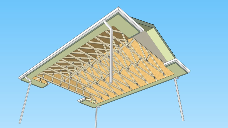 Truss Roof with Hip Returns and Soffit and Fascia