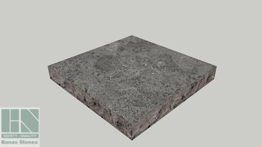 "Banas® Stones Natural Pier Caps - 24"" x 24"" - Silver Grey"