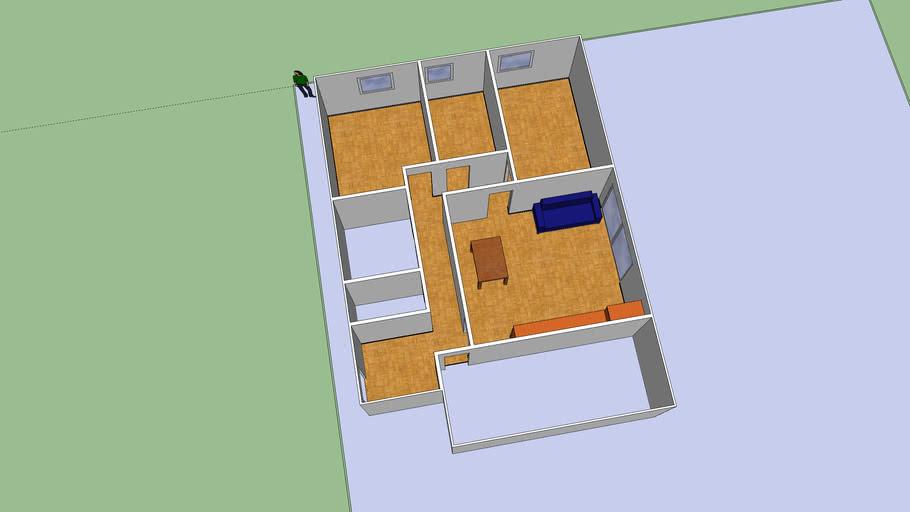 Fase 2. Ventanas y mobiliario comedor.   3D Warehouse