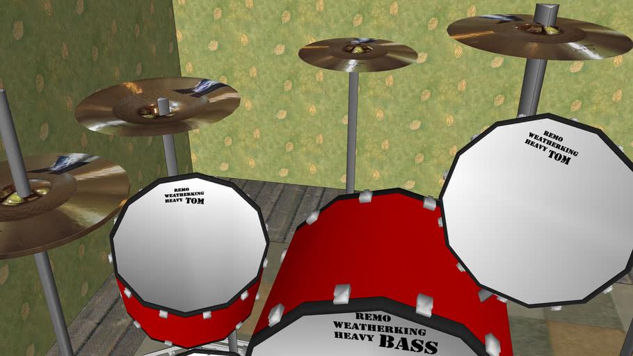 secret drum kit in bunker of DOOM!!!!