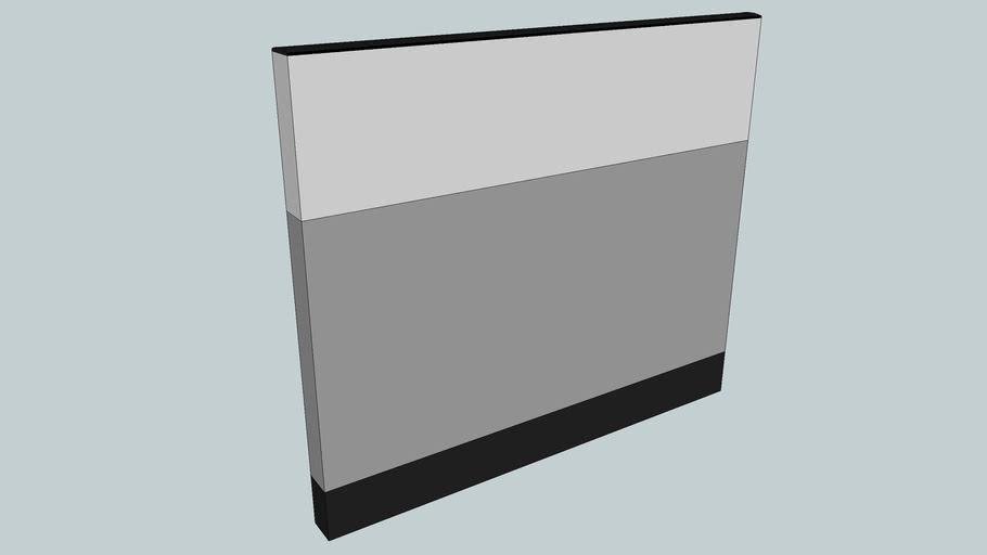 """42""""H x 48""""W office partition (radius top cap)"""