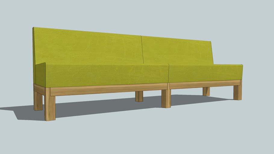 Hutten Edge Sofa Low-E/46 240 cm.
