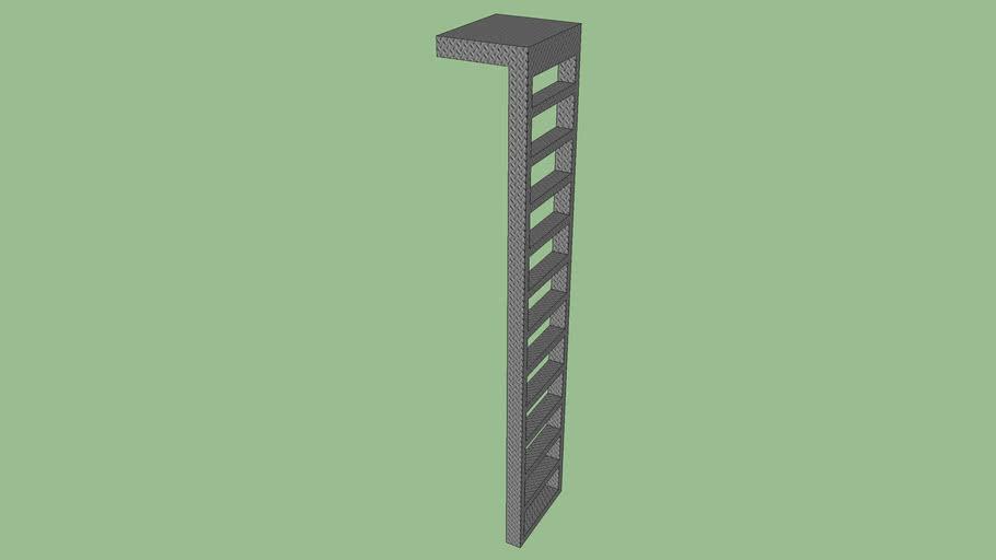 escalera vertical de metal de 3,10m de alto