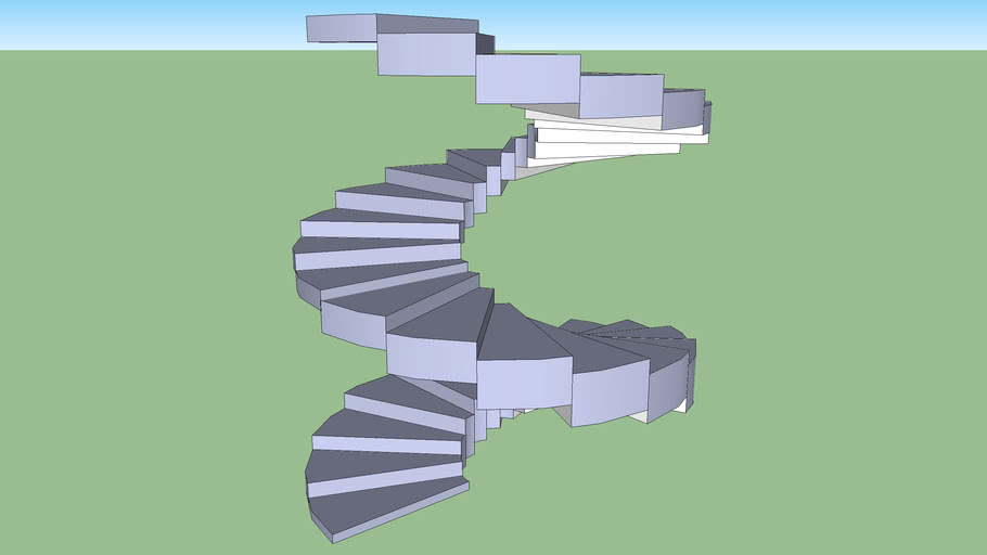 spiral staircase to scale